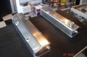 ALLOY FABRICATED SBC ROCKER COVERS (Includes -10 AN Fittings, Baffles & Filler Cap) Option-Powder Coat Any Colour $40