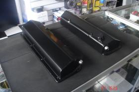 ALLOY FABRICATED CLEVELAND ROCKER COVERS  (Includes -10 AN Fittings, Baffles & Filler Cap) Powder Coat Any Colour Add $40