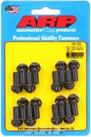 ARP EXTRACTOR Bolts, 12-Point, 3/8 in. Wrench, Custom 450, Black Oxide, Chevy, Ford, Set of 16