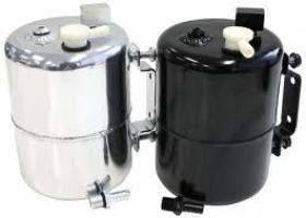 Aero Flow Brake Vacuum Reservoir Tank With Fittings & Mounts.(Polished or Black)