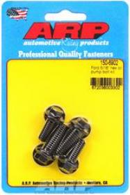 ARP Oil Pump Fasteners, Bolts, Hex Head, Chromoly, Black Oxide, Ford, V8, Set of 4