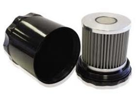 Universal Billet Re-usable Oil Filter Polished & Black