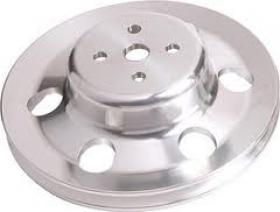 Ford Cleveland Billet Water Pump Pulley Black & Silver