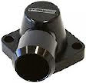 Billet 302-351 Cleveland 90deg Swivel Thermostat Housing Blue-Black-Silver-Red