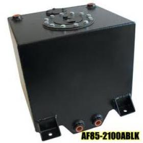 Aluminium Fuel Cell 38 L 10 US Gallons With Cavity/Sump.Fitted With Foam (Black Anodised)