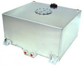 Aluminium Fuel Cell 57 L, 15 US Gallons With Cavity/Sump.Fitted With Foam 0-90 ohm Fuel Level Sender Included (Aluminium)