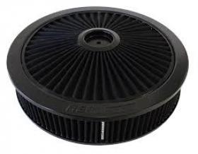 AeroFlow Full Flow Air Cleaner Assembly 14'' x 3'' Drop Base Black Washable Element