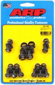 ARP Oil Pan Bolts, Black Oxide, Hex Head, Chevy, Small Block, Kit