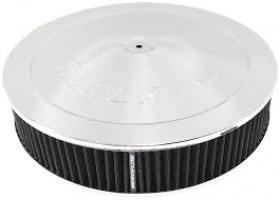 AeroFlow 14'' x 3'' Chrome Air Cleaner Assembly Drop Base Washable Element