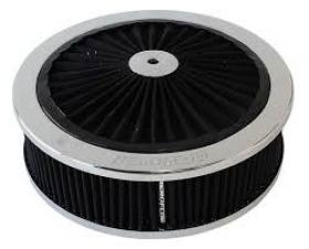 AeroFlow Chrome Full Flow  Air Cleaner Assembly 9'' x 2-3/4'' Washable Element