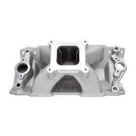 Edelbrock Super Victor Intake Manifold,  II, Single Plane, Aluminum, Natural, Square Bore, Chevy, 302/327/350/400, Each
