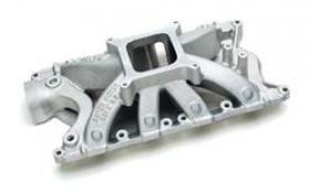 Edelbrock Super Victor Intake Manifold, Single Plane, Aluminum, Square Bore, Fits 9.2 in. Deck Height Only, Ford, 351W