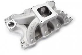 EDELBROCK VICTOR INTAKE MANIFOLD, Single Plane, Aluminum, Natural, Square Bore, Ford, 429/460, Each