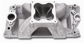 Edelbrock Super Victor Intake, Single Plane, Aluminum, Natural, Dominator, Chevy, 302/327/350/400, Each
