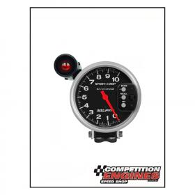 AUTO METER TACHOMETER 5'' Pedestal Mount 10,000 RPM 2 Stage External Shift Light & Memory Recall