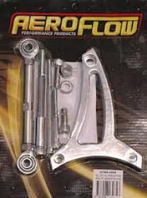 AEROFLOW Billet Alternator Bracket.Suit 289-302 Windsor.Low Mount,Passenger Side Bottom Rad Hose.(Polished or Black)