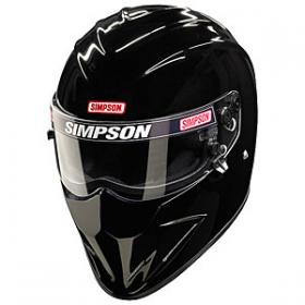SIMPSON - Diamondback Helmet Snell SA 2010 Rated Black Size 7-3/4''