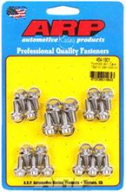 ARP Oil Pan Bolts, Polished Stainless Steel, 12-Point Nut, Ford, Small Block, Cleveland, Early Model, Kit
