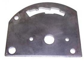 TCI Gate Plates, Gate Plate, Steel, Black, Reverse Pattern, Ford, GM, Chrysler, Each