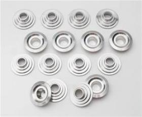 COMP CAMS Valve Spring Retainers, Titanium, 10 Degree, 1.625 in. Outside Diameter, .765 in. Inside Diameter, Set of 16