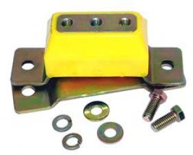 TCI Severe Duty Transmission Crossmember Mount Kits, Bushing, Transmission Crossmember Mount, Zinc Finish, Yellow, Ford, Each  Estimated USA/Internation