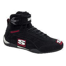 SIMPSON AD800BK  Shoes Size 8 Black High-Top Adrenaline Driving Shoes