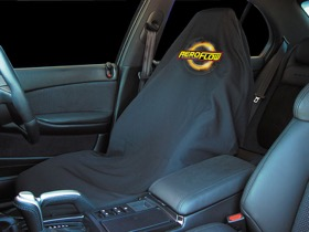 <strong>Throw Seat Cover </strong><br />With Yellow Aeroflow Logo