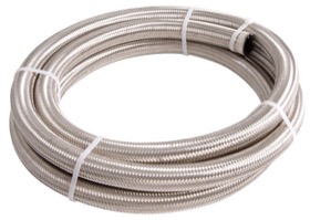 SS BRAIDED HOSE -8AN 3 METRE LENGTH CLAMSHELL PACK Aeroflow - AF 100-08-3M