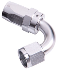 <strong>100 Series Swivel Taper 120° Hose End -6AN </strong><br />Silver Finish. Suit 100 & 450 Series Hose