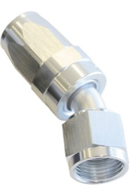 <strong>100 Series Swivel Taper 30&deg; Hose End -6AN </strong><br />Silver Finish. Suit 100 & 450 Series Hose