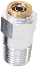 <strong>Straight 1/8&quot; NPT to 3/16&quot; Nylon Quick Release Fitting</strong><br /> Silver Finish.