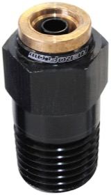 "<strong>Straight 1/8"" NPT to 1/4"" Nylon Quick Release Fitting</strong><br /> Black Finish."