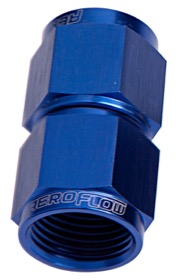 <strong>Straight Female Swivel Coupler -3AN</strong> <br />Blue Finish