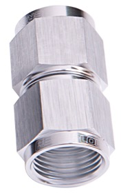<strong>Straight Female Swivel Coupler -6AN</strong> <br />Silver Finish