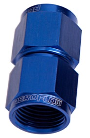 <strong>Straight Female Swivel Coupler -20AN</strong> <br />Blue Finish