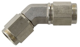 <strong>45&deg; Female Swivel Coupler -3AN</strong><br /> Stainless Steel