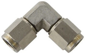 <strong>90&deg; Female Swivel Coupler -3AN</strong><br /> Stainless Steel