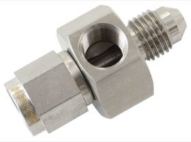 <strong>Straight -4AN Female to Male with 1/8&quot; NPT Port </strong><br /> Stainless Steel