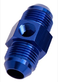<strong>Straight Male to Male with 1/8&quot; Port -3AN </strong><br /> Blue Finish