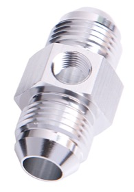 <strong>45&deg; Male Flare Union with 1/8&quot; Port -6AN</strong><br /> Silver Finish