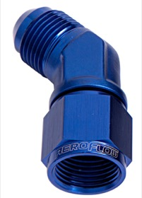 <strong>45° Female/Male Flare Swivel -3AN</strong> <br /> Blue Finish
