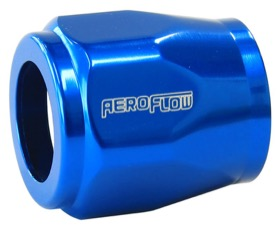 "<strong>Hex Hose Finisher 1/2"" (12.7mm) Inside Diameter</strong><br /> Blue Finish. Suits -4AN Hose"