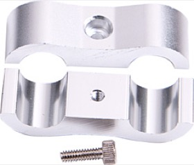 "<strong>Billet Aluminium Dual Hose Separators </strong> <br /> 7/16"" I.D., Silver Finish"