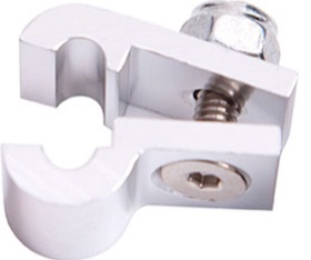 "<strong>Billet Aluminium P-Clamp 5/16"" (7.9mm) </strong><br />Silver Finish"