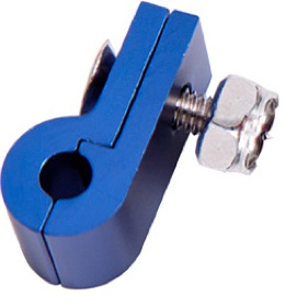 <strong>Billet Aluminium P-Clamp 9/16&quot; (14.2mm) </strong><br />Suit -6 Braid & -8 PTFE Hose, Blue Finish