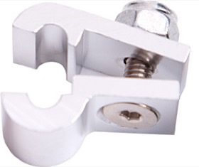 "<strong>Billet Aluminium P-Clamp 9/16"" (14.2mm) </strong><br />Suit -6 Braid & -8 PTFE Hose, Silver Finish"