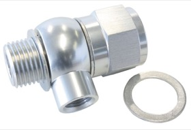 "<strong>Oil Pressure Adapter </strong><br />Suit Holden/Chevy LS series engine, 1/8"" NPT port, Silver finish"