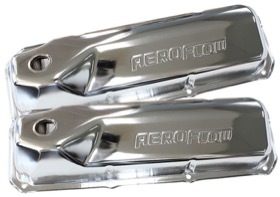 <strong>Chrome Steel Valve Covers</strong><br />Suit Ford 302-351 Cleveland With Aeroflow Logo