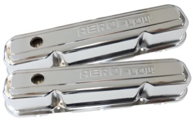 <strong>Chrome Steel Valve Covers</strong><br />Suit SB Chrysler 318-340-360 With Aeroflow Logo
