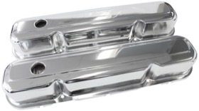 <strong>Chrome Steel Valve Covers</strong><br />Suit SB Chrysler 318-340-360 Without Aeroflow Logo